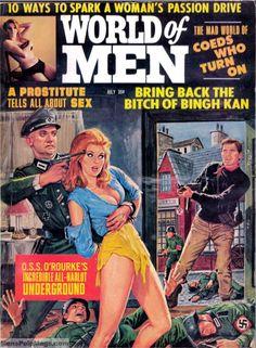 I love pulp fiction Magazine Man, Pulp Magazine, Book And Magazine, Magazine Covers, Pulp Fiction Art, Pulp Art, Horror Fiction, Satire, Comic Book Covers