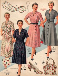 Spring and Summer 1955 Lane Bryant   VintageStitches.com