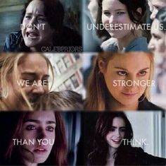Hunger Games, Divergent & the Mortal Instruments... my ladies.