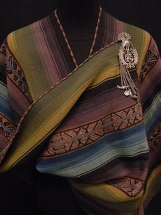 Richly Hued Boho Chic Peruvian Handwoven Manta Shawl  by luxethnic, $750.00