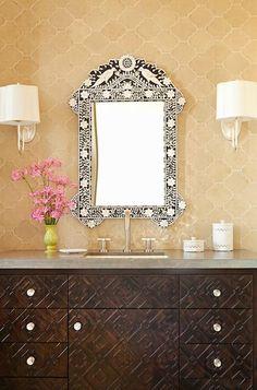 Wooden Vanity Moroccan Stylish Elegant