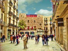 Portal del Angel, shopping street Barcelona