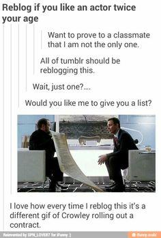 Sebastian Stan, Jensen Ackles, Jared Padalecki, Misha Collins, and last but not least Chris Hemsworth. I'm 15.