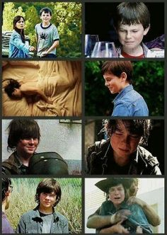 season one to four they have all changed so much but carl and rick changed the most