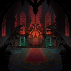 Combat background art and a few variations for Battle Chasers: Night War, ©Airship Syndicate. Digging through archives and realized there are a bunch of unposted art. Fantasy City, Fantasy Places, Dark Fantasy Art, Fantasy Artwork, Fantasy World, Fantasy Art Landscapes, Fantasy Landscape, Castlevania Anime, Battle Chasers