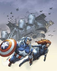 Marvel Team-Up (Volume 3) 6 Cover. #RobertKirkman #ScottKolins #MarvelTeamUp #BlackWidow #NatashaRomanoff #CaptainAmerica #SteveRogers #StevenRogers #TheCaptain #Nomad #CaptainAmericaCivilWar #CaptainAmericaComics #SentinelofLiberty #Earth616 #Superheroes #Avenger #SuperSoldier #CaptainAmericaTheFirstAvenger #TheFirstAvenger #BrooklynHeights #CaptainAmericaSteveRogers #Comics #ComicBooks #Marvel #MarvelComics #MarvelUniverse #ComicsDune