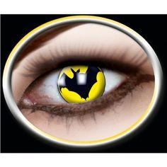 Kontaktlinsen gelb Fledermaus