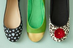 Liven up a plain pair of ballet flats with our 24 ideas.