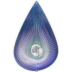 Iron Stop 10 in. Indigo Teardrop Crystal Wind Spinner-D7538-10 at The Home Depot