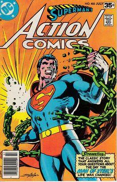Action Comics Vol 1 485 - DC Comics Database Superman Action Comics, Superman Characters, Superman Comic, Superman Artwork, Superman Stuff, Dc Characters, Dc Comic Books, Comic Book Covers, Superman Family