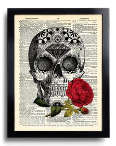 Hey, I found this really awesome Etsy listing at https://www.etsy.com/listing/204708590/sugar-skull-day-of-the-dead-art-print