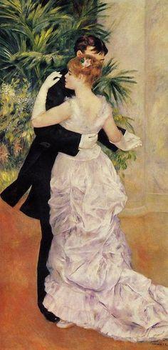 City Dance (1883) by Pierre Auguste Renoir.