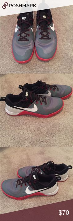 123411fc4b4c7 Shop Women s Nike Red Gray size 10 Athletic Shoes at a discounted price at  Poshmark. Size 10 Only used a few times for Crossfit. No stains
