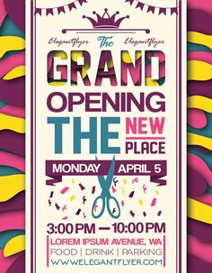 Grand Opening Poster Ideas  Google Search  Interest