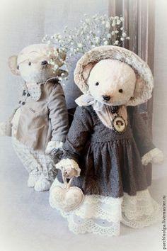 Купить Нежный винтаж - белый, тедди, тедди медведи, мишка тедди, мишка ручной работы