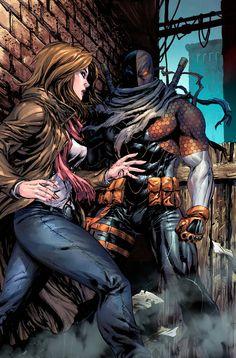 Deviant Art colorization of Lois Lane meets Slade Wilson in the dark alley! Surely it will turn out alright. Art by Tyler Kirkham Comic Book Characters, Comic Character, Comic Books Art, Comic Art, Dc Deathstroke, Deathstroke The Terminator, Sabretooth Marvel, Deathstroke Cosplay, Xmen
