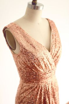 Hey, I found this really awesome Etsy listing at https://www.etsy.com/listing/202856679/rose-gold-champagne-sequin-deep-v-back