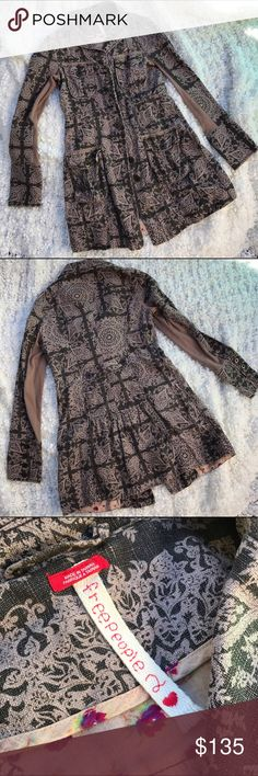 """🎉HP! Free People Printed Jacket!🎉 HOST PICK! 🎉HP! Free People Printed Jacket!🎉HOST PICK! Chosen on 1/2/2017!! 🎉 for the """"Best in Outerwear Party""""! 🎉Host Pick!🎉🎊1/2/17! 💖💋🎁💜🏅🎈🎀💃 Free People Jackets & Coats Trench Coats"""