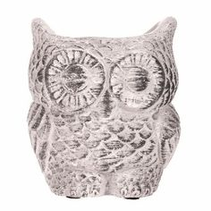Owl Flower Pot for Garden or Home Weathered Like Finish for sale online