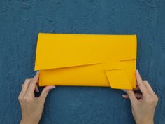 Items similar to ArtAK DART Clutch. Merino Wool Felt Clutch, Document Holder or Treasure Envelope. Best Leather Wallet, Leather Clutch, Leather Purses, Leather Handbags, Felt Clutch, Clutch Purse, Coin Purse, Crossbody Bag, Yellow Clutch Bags
