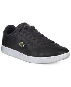 Lacoste Men's Carnaby Snake-Embossed Lo-Top Sneakers  -