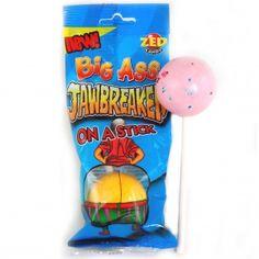 ZED Candy Big Ass Jawbreaker Mehrschichtiger XXL-Lolli mit Kaugummi-Kern