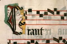 Entertaining music These 15th-century images are from four different musical books used in a church setting. The individuals who decorated these pages - the top three were likely done by the same person - obviously had a blast doing so. They show us someone taking a bite from his own nose; a red-lipped man singing with his mouth wide open; a person licking the staffs; and someone eating the last note of the tune. The heads are entertaining as they are, but their interaction with the musical…