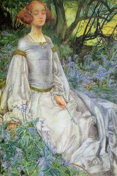 Pre Raphaelite Art: Eleanor Fortescue Brickdale - In the Spring Time