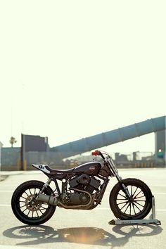 Magic happens when one of the USA's top chopper builders catches the flat track bug.