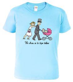 """Svatební tričko pro ženicha - originální dar pro novomanžele. Nabízíme do série s ostatními produkty v sekci """"související zboží Nasa, Mens Tops, T Shirt, Fashion, Supreme T Shirt, Moda, Tee Shirt, Fashion Styles, Fashion Illustrations"""