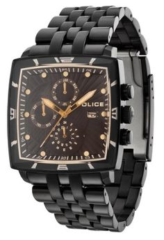 Police Watches - Men s Patrol Mf Black IP Dial Steel Dual-Time Watch Police  Watches d6e096a6cd
