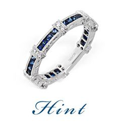 I'm dreaming of a Luxury Christmas Gift... Hand Engraved Band with Diamonds and Sapphires fit for a Queen. Boasting classic lines with a hint of antiquity, this ring will capture white and royal blue when it sparkles in daylight or candlelight. Available with any gemstone or diamond.  By Hadar Diamonds.
