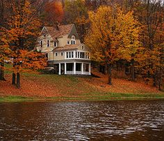 Formerly the Honeymoon Cottage, situated across the lake from the Rexmere Hotel in Stamford NY