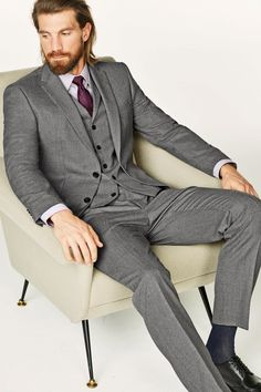 Buy Light Grey Textured Slim Fit Suit: Jacket from the Next UK online shop Effortless Chic, Padded Jacket, Next Uk, Wedding Attire, Uk Online, Wardrobe Staples, Biker, Jackets For Women, Suit Jacket