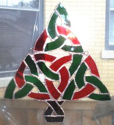 Stained Glass Celtic Knot Christmas TreeOne of a by smashingglass, $50.00