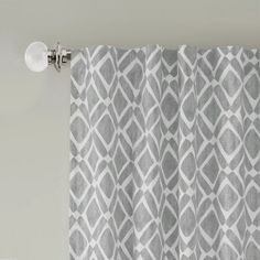 Delray Diamond X Window Curtain Panel In Grey - Transform a room in your home instantly with an updated look provided by the Delray Diamond Window Curtain Panel. Its geometric pattern is both modern and colorful. Light Blocking Curtains, Room Darkening Curtains, Blackout Curtains, Window Panels, Window Curtains, Lego Gifts, Thing 1, Room Essentials, Modern Prints