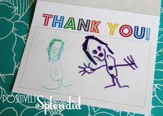 Free Thank You Printable that gives plenty of room for your little artist to express their gratitude!