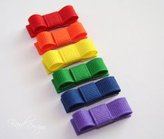 Itty Bitty Clippies  Colors of the Rainbow  Set of by BardDesigns, $6.50