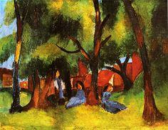 August Macke Children Under Sunny Trees