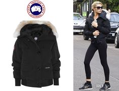 Who: Abbey Clancy wearing a Canada Goose chilliwack coyote-trimmed coat Shop…