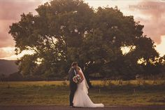 Wedding photography / Sunset wedding photography / Kilcoy wedding / Bride and groom /