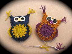 crochet pattern owl tape measure / gehaakt patroon by AtelierMyne $2.79