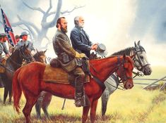 Mort Kunstler. Stonewall Jackson With General Lee after the Battle of Gaines-Mill, 1862.