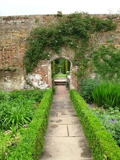 love old walls in gardens