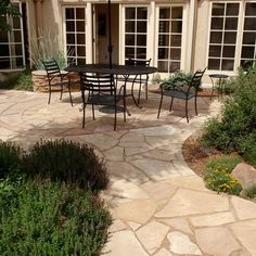 Flagstone Patio Design, Pictures, Remodel, Decor and Ideas - page 5