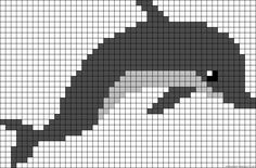 Dolphin perler bead pattern