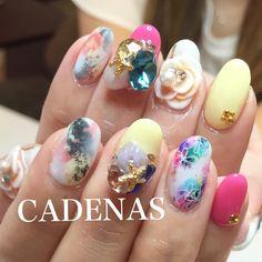 CADENAS nail design  tel:06-4792-8617  blog❤️ http://ameblo.jp/cadenas-nail/  Instagram❤️ https://instagram.com/Yuka.maeda/