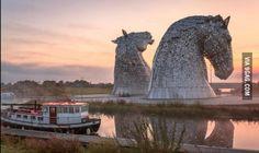 Giant Horse Heads, Falkirk, Scotland.