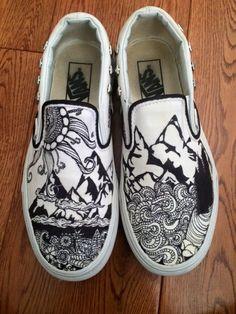 Outdoor shoes #vans #sharpie #drawing #adventure #outdoor #design
