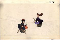 Living Lines Library: 魔女の宅急便 / Kiki's Delivery Service (1989) - Production Cels